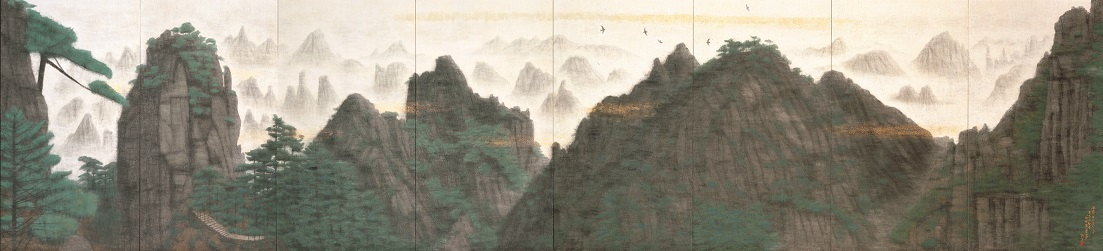 神峰黄山雲海図